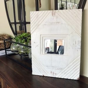 Pottery Barn / Small Rustic Wooden Mirror